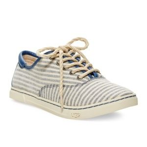 UGG Navy Blue Eyan II Stripe Sneakers 7